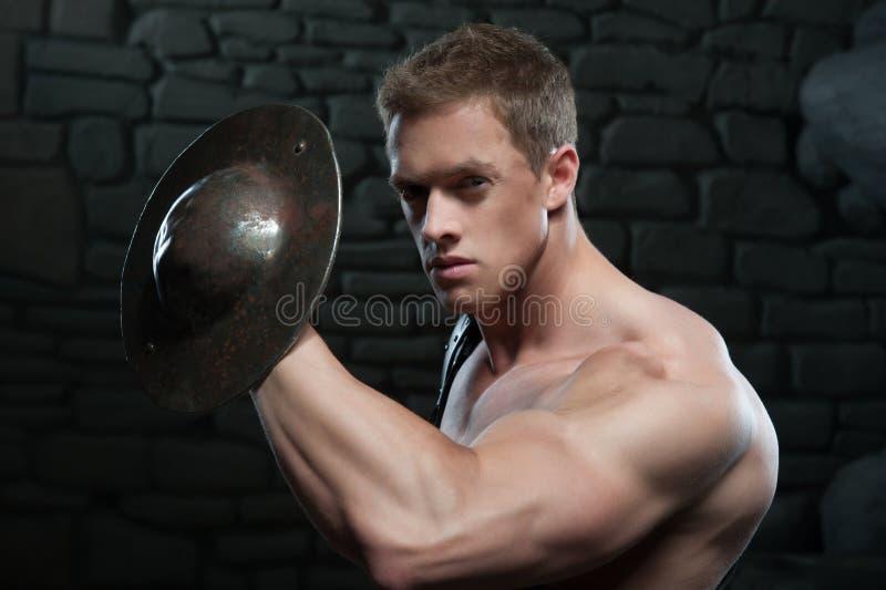 Gladiator z osłoną zdjęcie royalty free