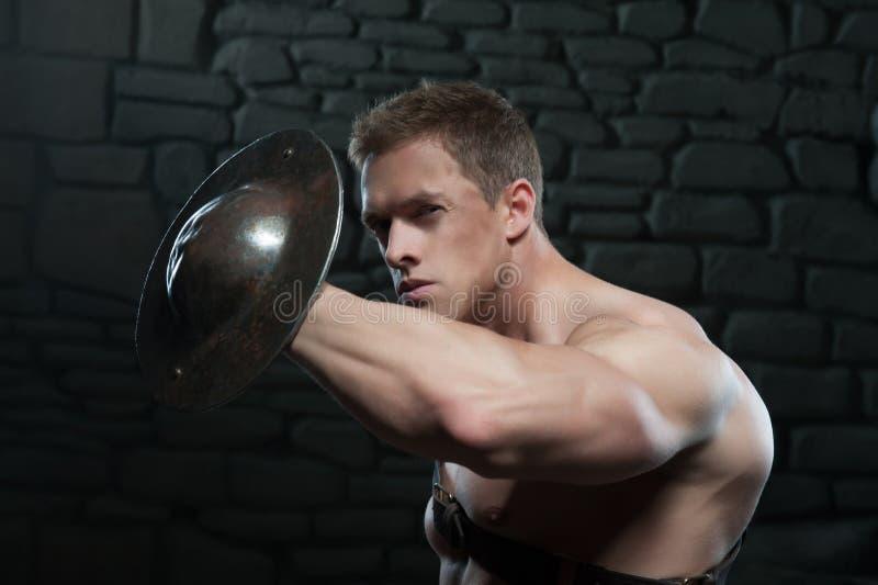 Gladiator z osłoną fotografia royalty free