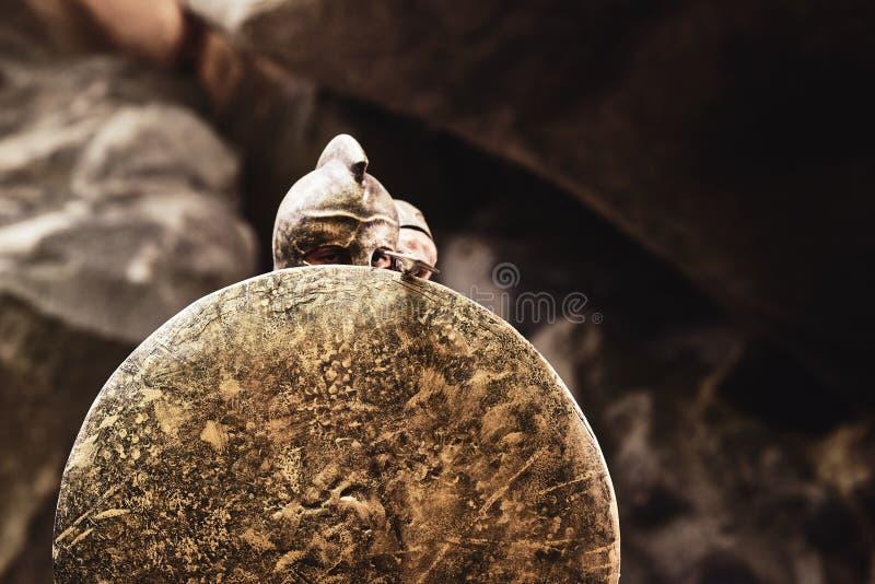 Gladiatora nakrycie z osłoną zdjęcia royalty free