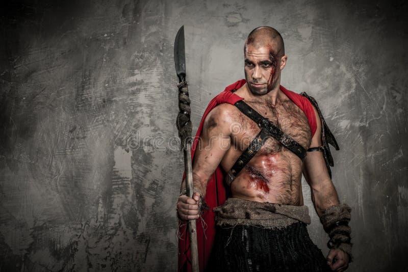 Gladiatore ferito immagini stock