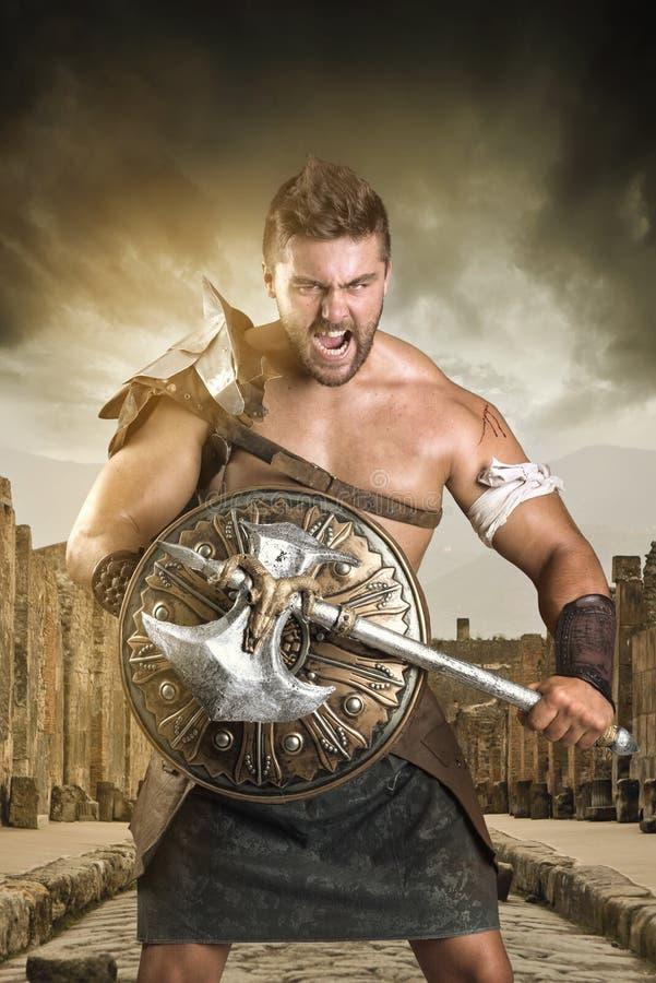 Gladiatore/guerriero fotografie stock