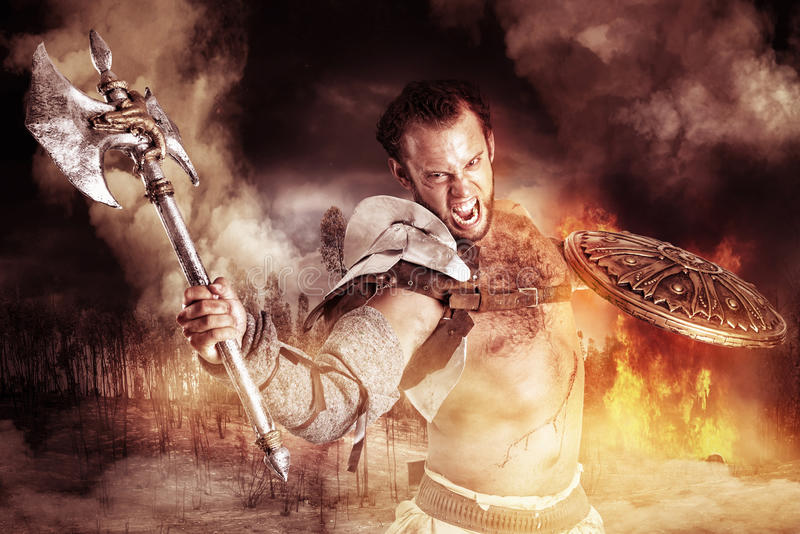 Gladiatore/guerriero fotografia stock