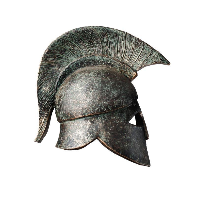 Gladiatore pretorio Helmet Statue fotografia stock