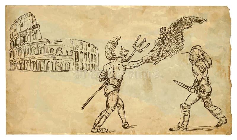 Gladiatoren lizenzfreie abbildung