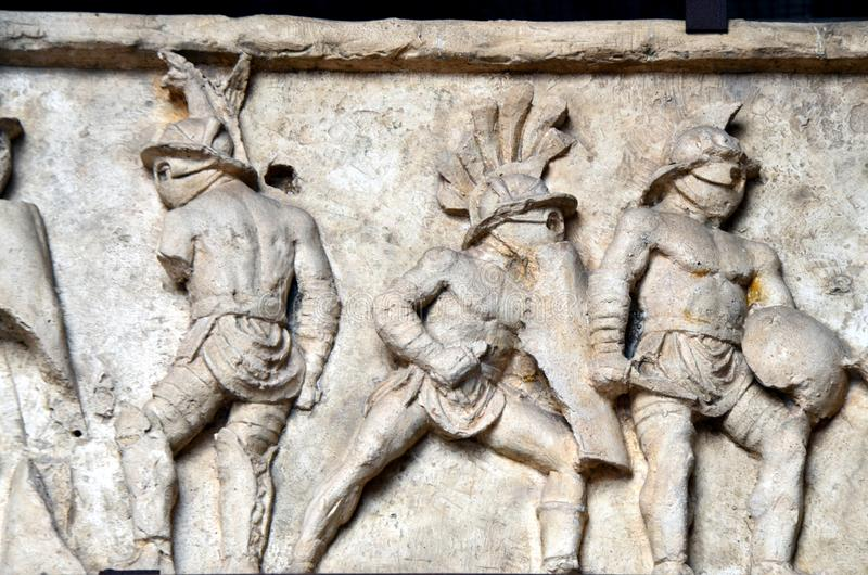 Gladiatoren von Colosseum in Rom stockfotografie