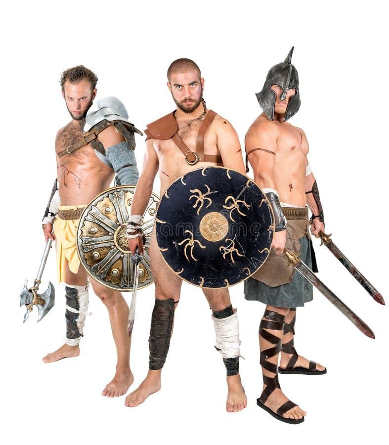 Gladiatorgrupp royaltyfri foto