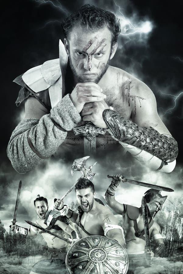 Gladiatori/guerrieri fotografia stock libera da diritti