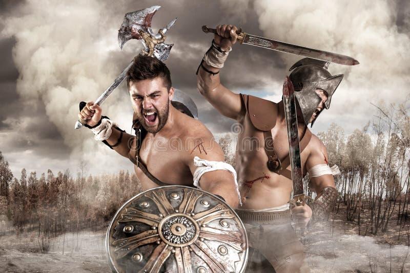 Gladiatori/guerrieri immagini stock libere da diritti