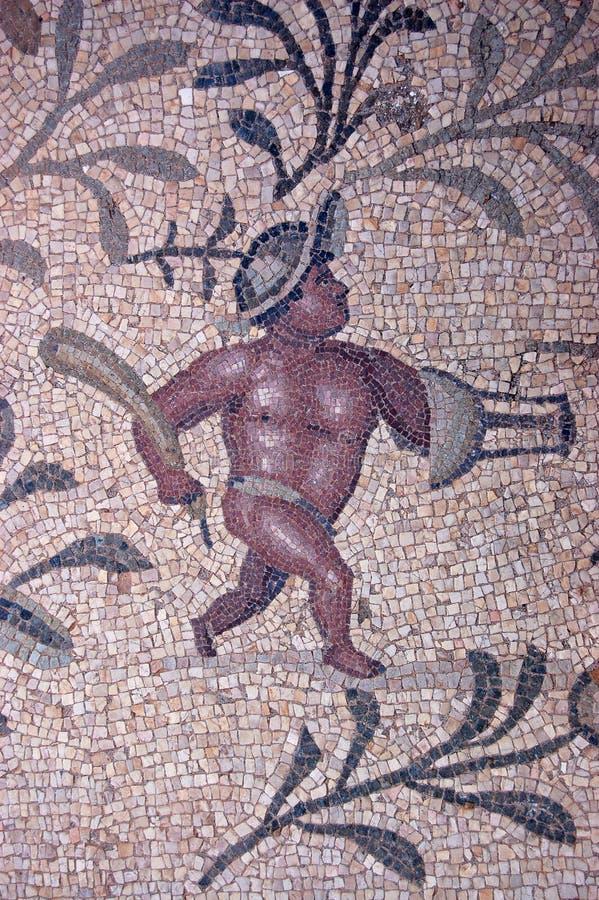 gladiatormosaik royaltyfri foto