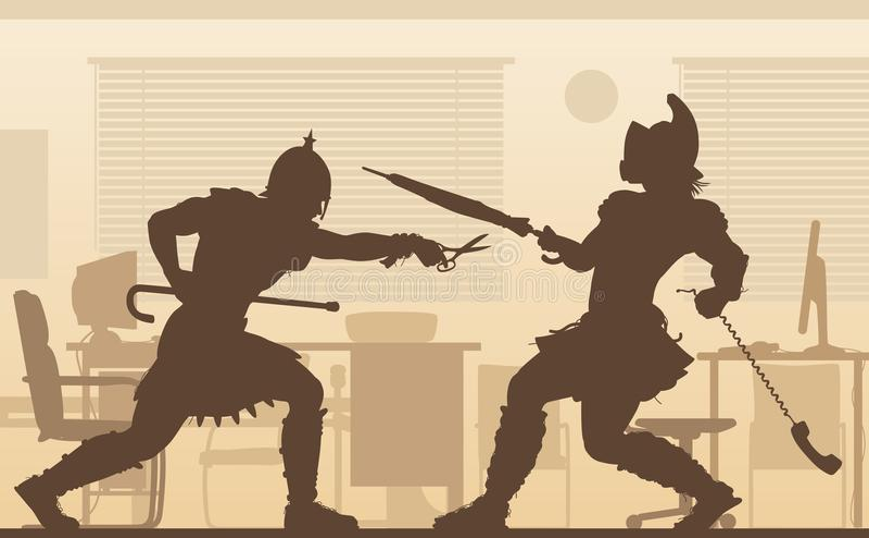 Gladiators γραφείων απεικόνιση απεικόνιση αποθεμάτων