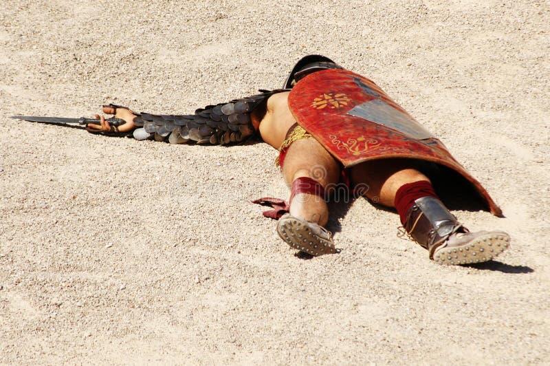 Gladiators. Gladiator in the arena of the Roman circus stock image