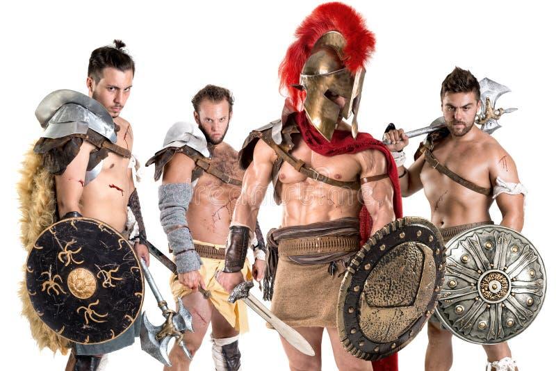 gladiators royaltyfri bild