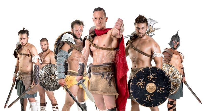 gladiators arkivfoton
