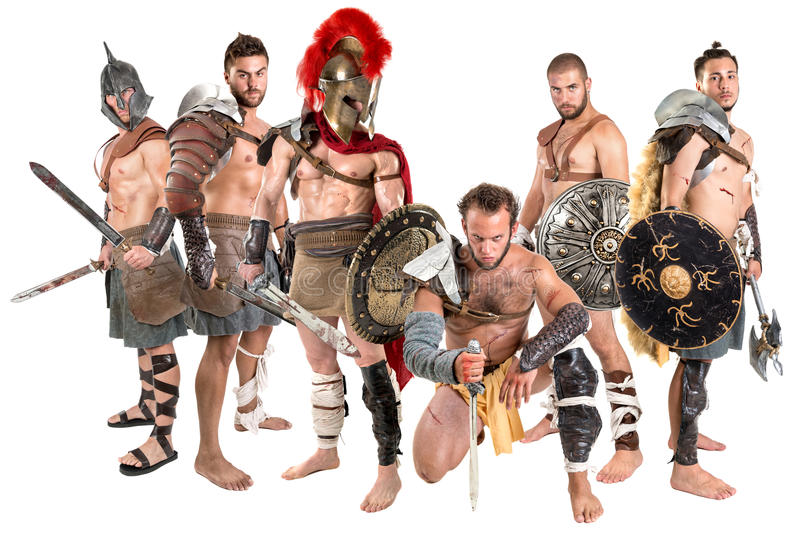 gladiators arkivfoto
