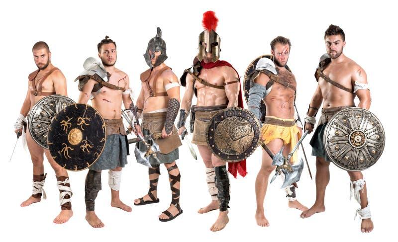 gladiators royaltyfri foto