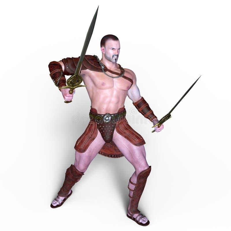 gladiatorski royalty ilustracja