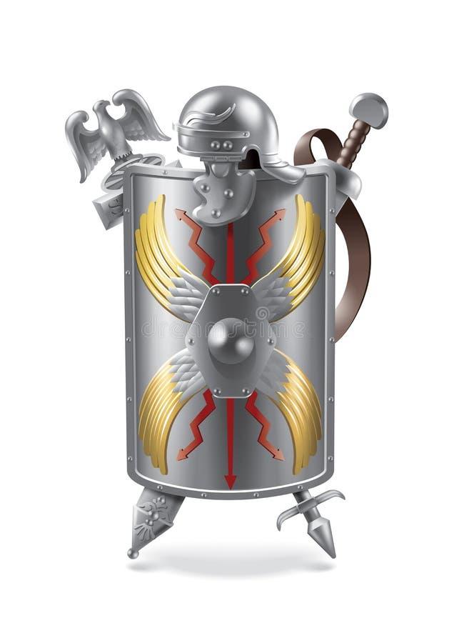 gladiatorski 8 dodatkowy ręk żakieta eps kartoteki formata ilustrator ilustracji