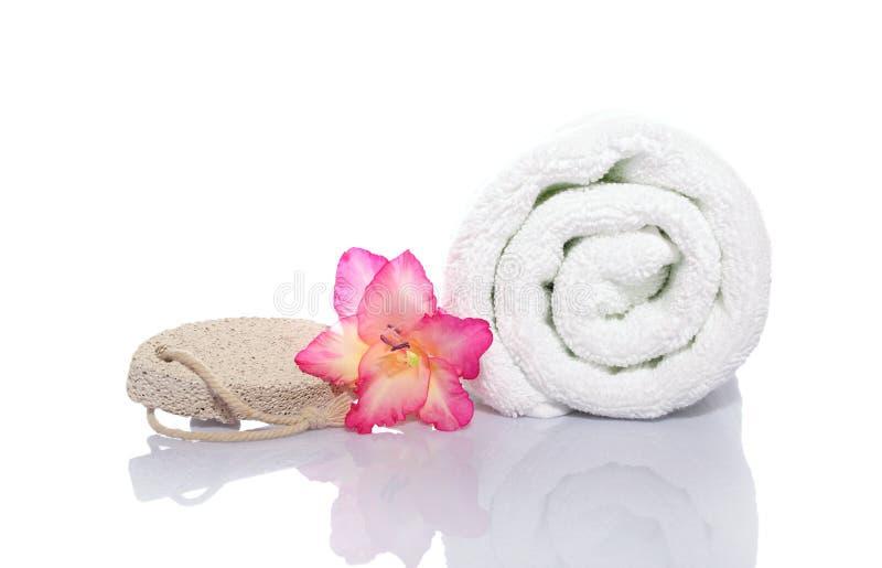 gladiola ręcznik pumeksu obraz royalty free