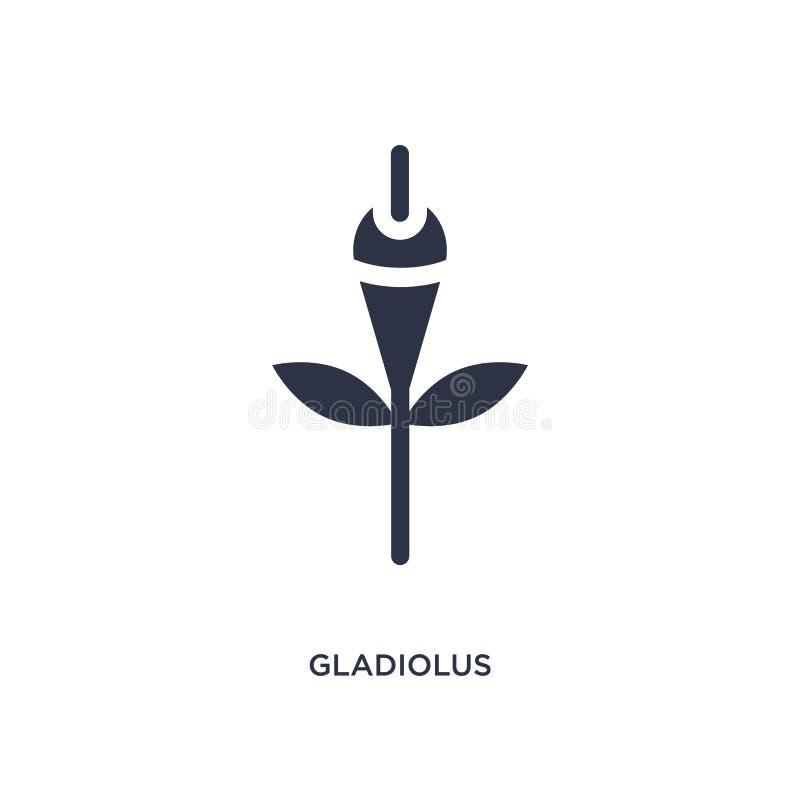 gladiolenpictogram op witte achtergrond Eenvoudige elementenillustratie van Aardconcept royalty-vrije illustratie