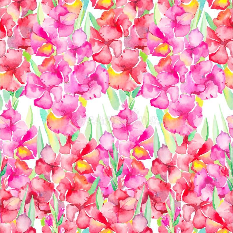 gladiolus floral πρότυπο καρδιών λουλουδιών απελευθέρωσης πεταλούδων κίτρινο διανυσματική απεικόνιση