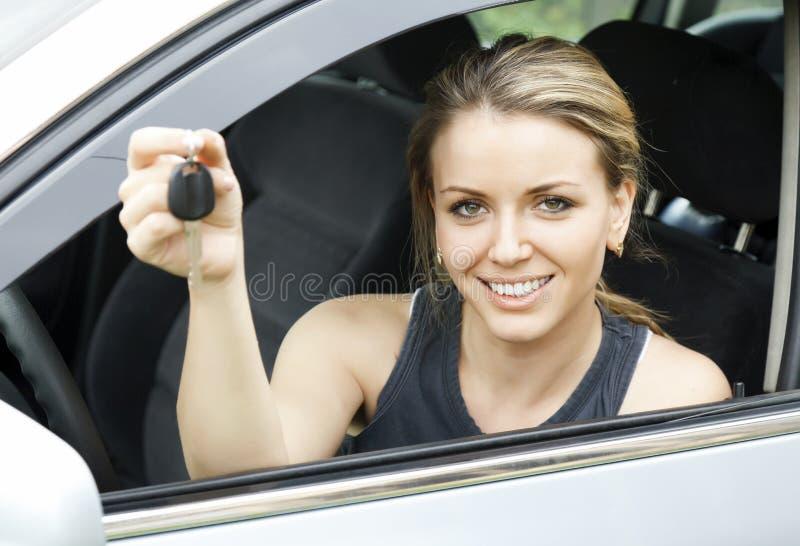 gladlynt chaufför royaltyfri foto