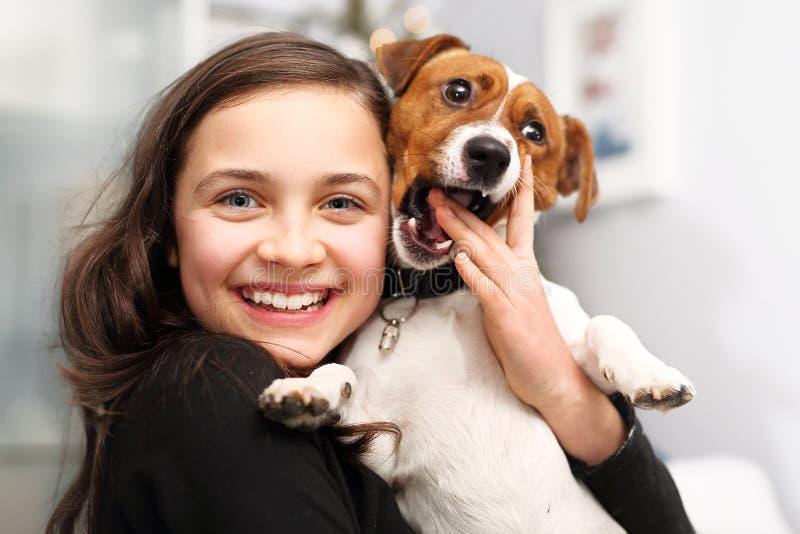gladlynt hund arkivfoto