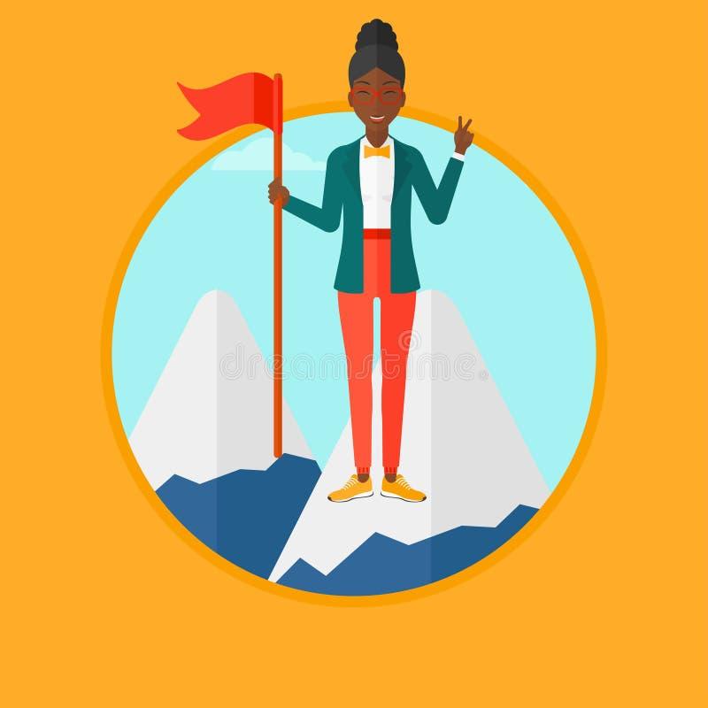 Gladlynt illustration för ledarekvinnavektor royaltyfri illustrationer