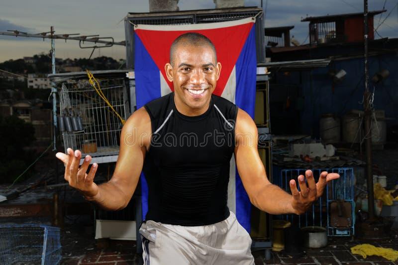 gladlynt kubansk man arkivfoton