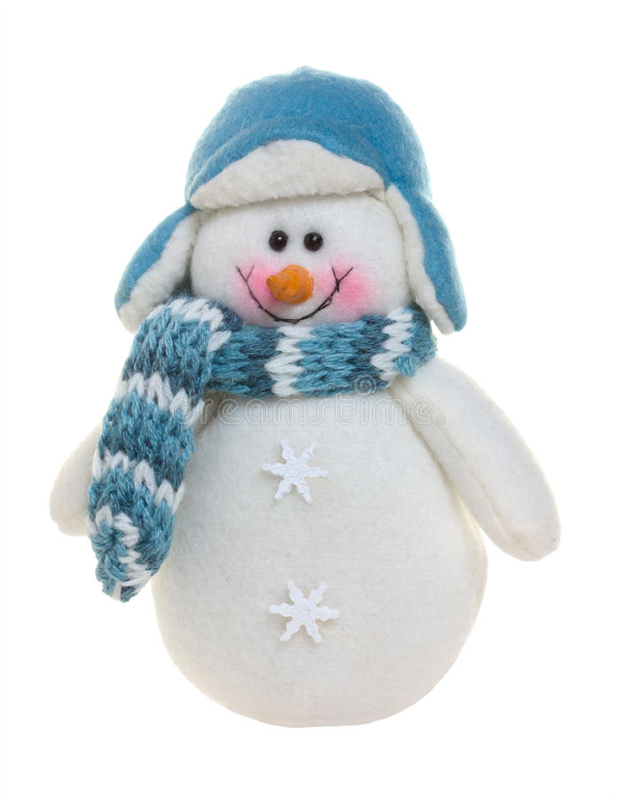 gladlynt snowman royaltyfria bilder