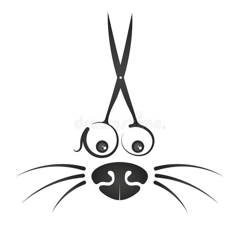 Gladlynt symbol för en frisyr av djur vektor illustrationer