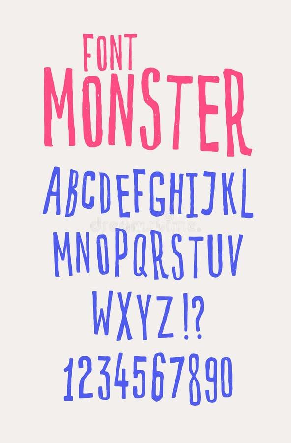 Gladlynt vänlig stilsort vektor Bokstäverna är alla separat Ställ in av bokstäver av det engelska alfabetet Latinska tecken hipst vektor illustrationer