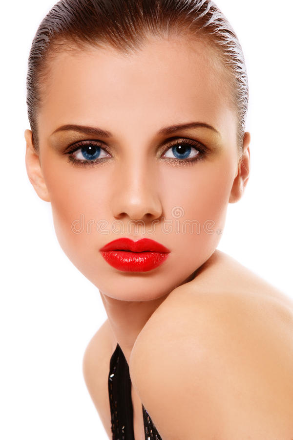 Glam beauty royalty free stock photography