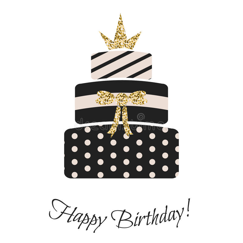 Free Glam Birthday Cake For Girls. Royalty Free Stock Image - 70750936
