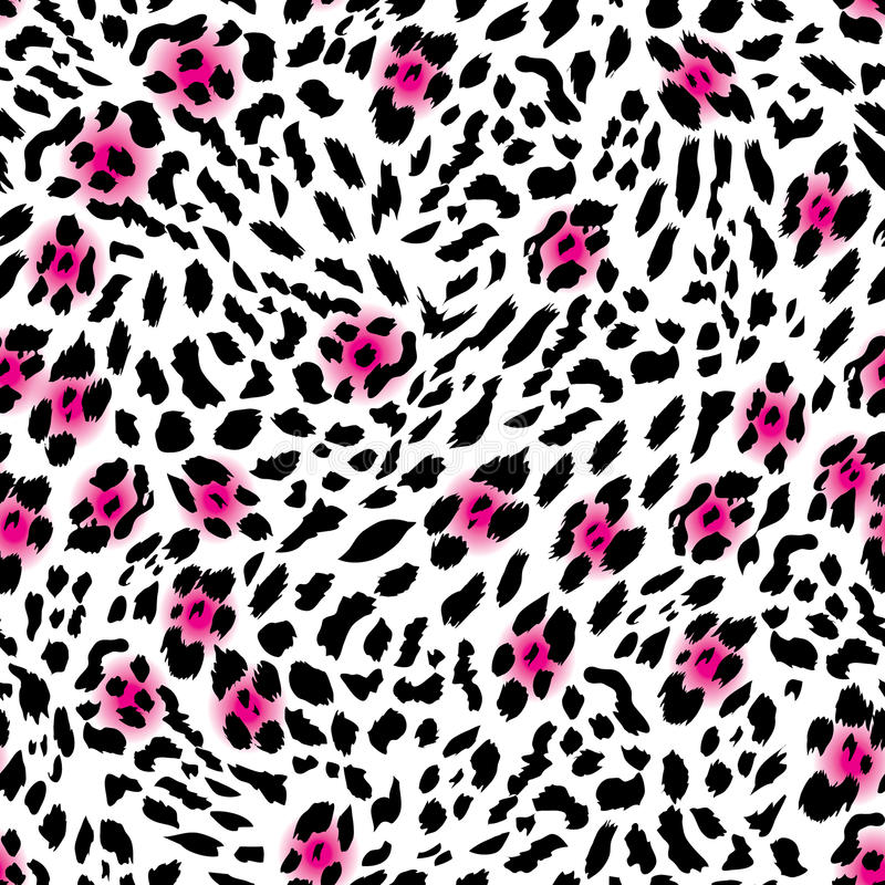 Glam leopard seamless vector print stock illustration