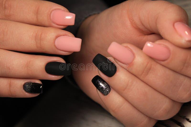 glam menchii manicure fotografia royalty free