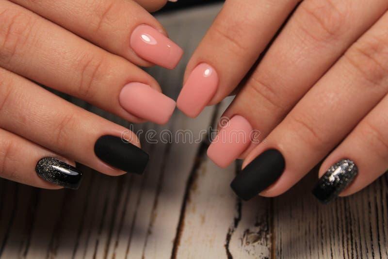glam menchii manicure zdjęcia royalty free