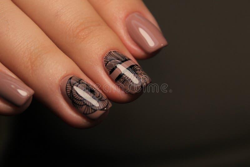 glam menchii manicure obrazy royalty free