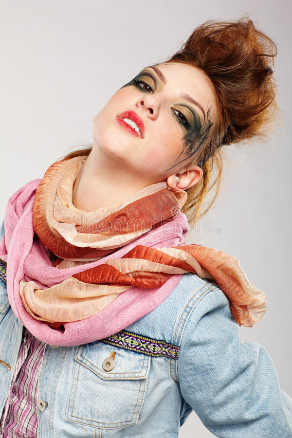 Glam Punk Girl Royalty Free Stock Image