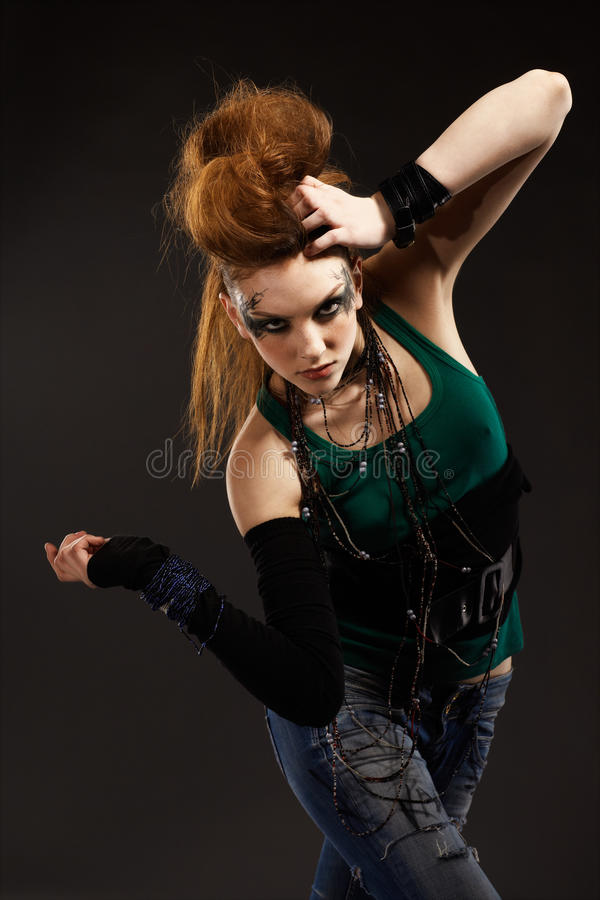 Download Glam punk girl stock photo. Image of attractive, emotion - 15074500