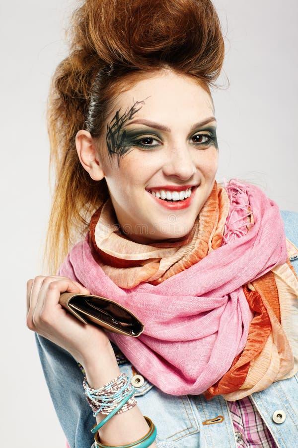 Glam Punk Girl Stock Image