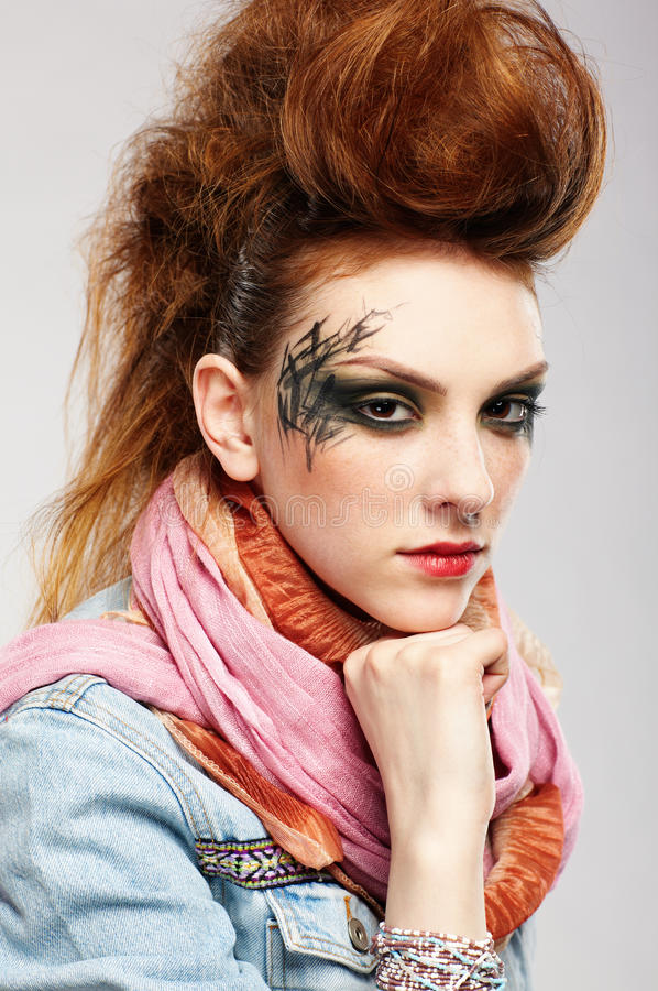 Download Glam punk girl stock photo. Image of european, modern - 17052442