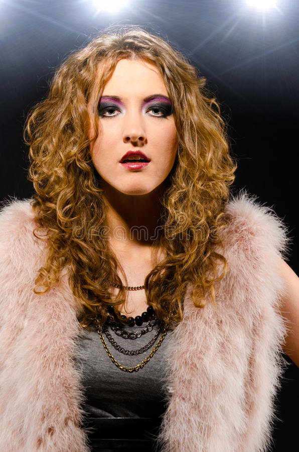 Download Glam rock style stock photo. Image of attractive, close - 22531692