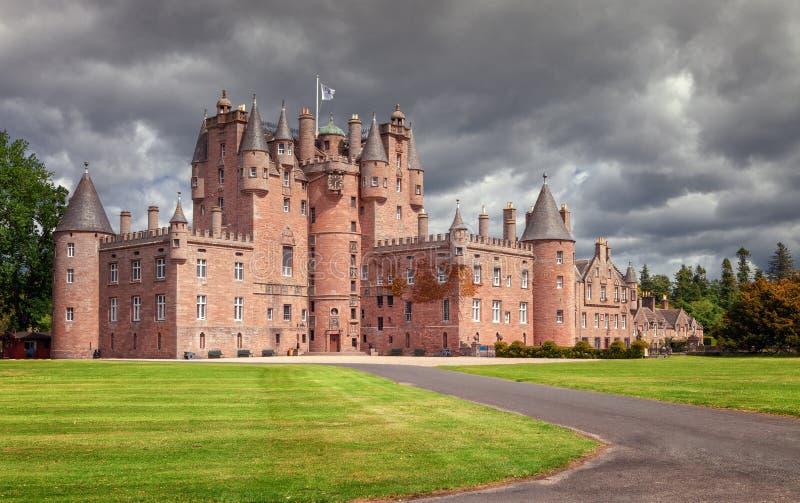 Glamis城堡是典型的苏格兰城堡,庄严, fu 库存图片