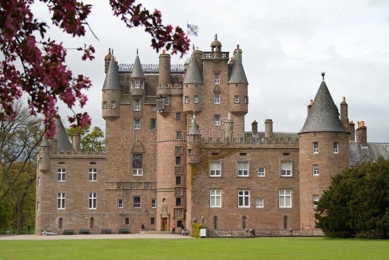 Glamis Castle in Scotland stock image