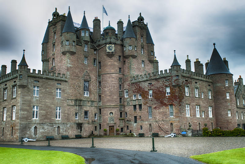 Glamis castle royalty free stock photos