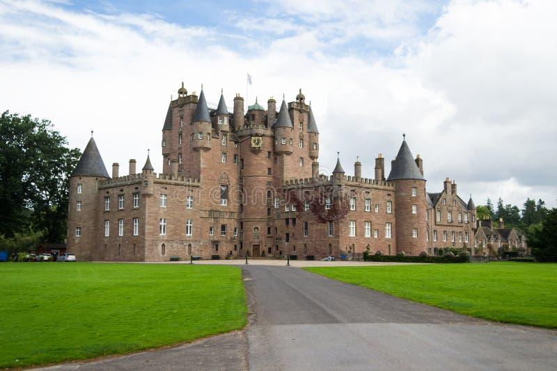 Glamis kasztel, Szkocja fotografia royalty free