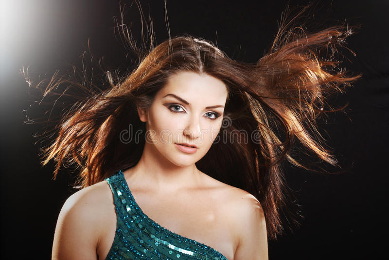 glamorös kvinna arkivfoto