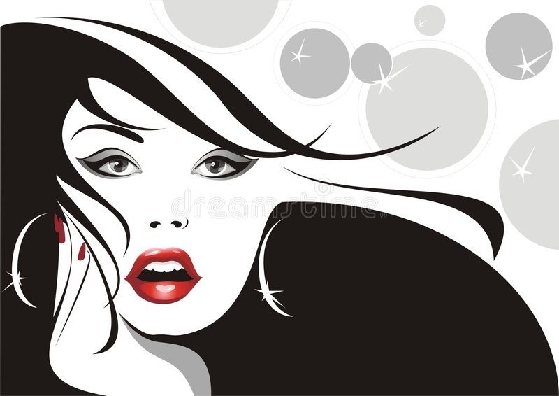 glamorös kvinna för bakgrund stock illustrationer