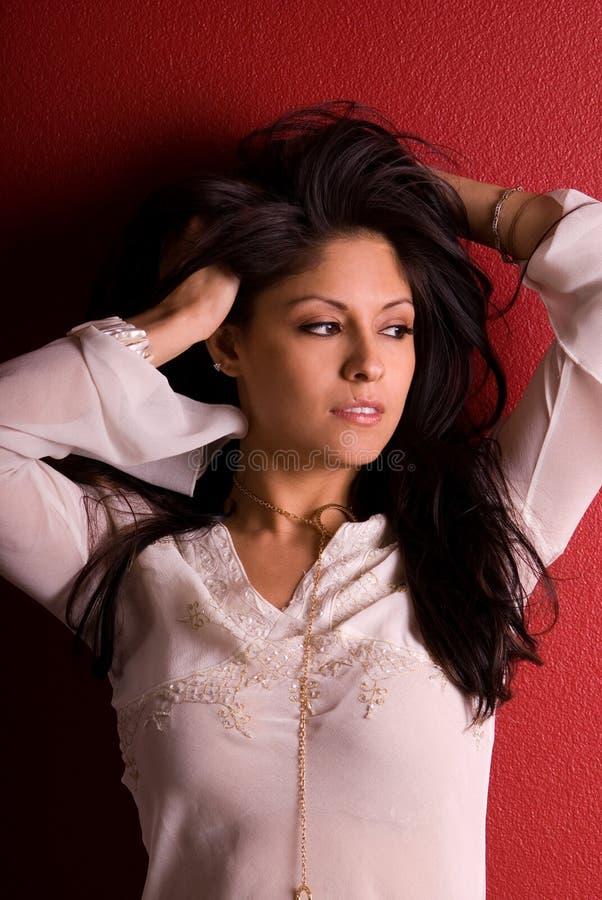 glamorös latinsk kvinna royaltyfri fotografi