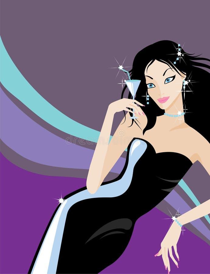 glamor девушки иллюстрация штока